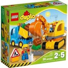 LEGO DUPLO Town Sunkvežimis ir vikšrinis ekskavatorius, 2-5 m. vaikams (10812)